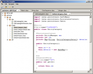 Capture d'écran de JD-GUI